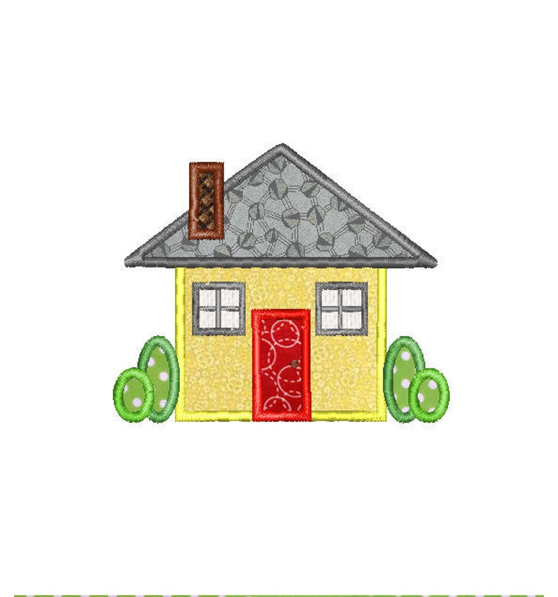 Buy3Get1 FREE - Machine Embroidery Applique House - INSTANT DOWNLOAD
