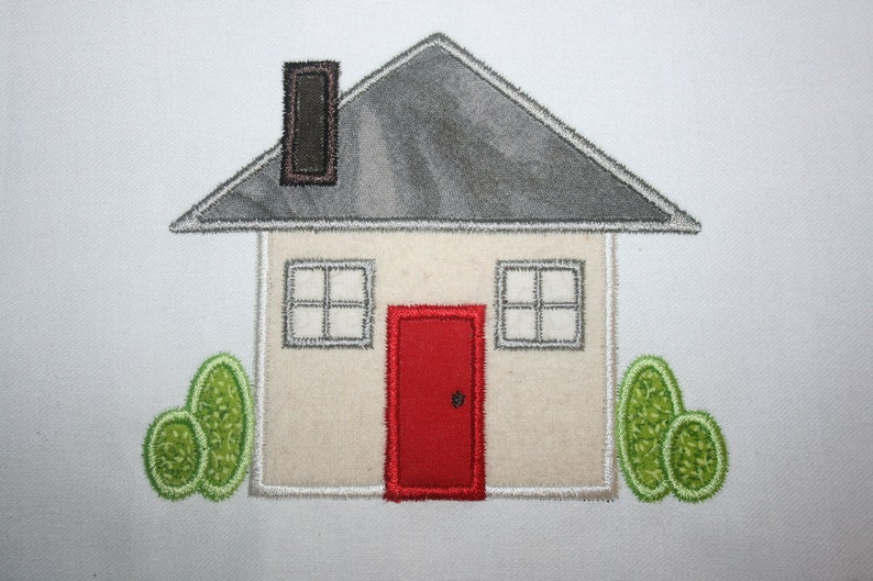 Buy3get1 free machine embroidery applique house instant etsy
