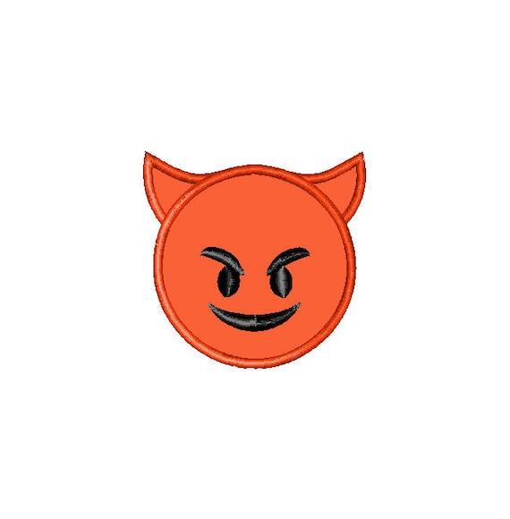 Buy3Get1 libre máquina bordado pequeño diablo Emoji apliques   Etsy