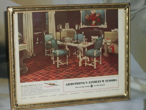 1940 S Framed Ad Armstrong Linoleum, Better Homes And Gardens Wall Decor