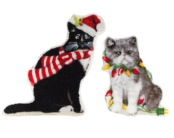 Christmas cats Iron on Applique transfers - 711