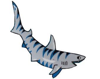 Shark Iron On Fabric Transfer Applique - 3719