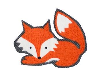 Fox Iron On Fabric Transfer Applique - 860