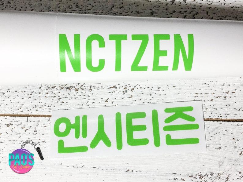 NCT 127 Light Stick Decal Sticker Vinyls KPOP