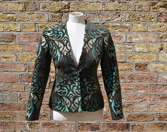 Emerald printed jacket, size S