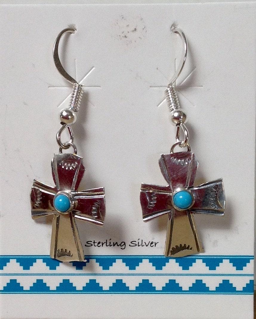 Native American Womens Navajo Turquoise Ring Size 5 Wilson P 4-Stone Zuni Wow
