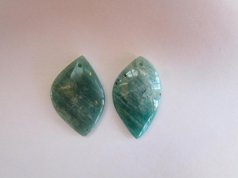 2 Amazonite Stone Pendants Gemstones Rocks and Minerals Large Blue  Green Amazonite Polished Drilled Cabochons Amazonite Necklace