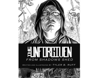 """Graphic novel The UNFORGIVEN Volume 2: """"From Shadows Shed"""" original autographed book"""