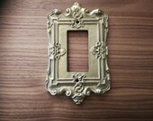 Light Switch Cover - Brass Switch Plate -Ornate Gold Metal Light Switch Cover Plate