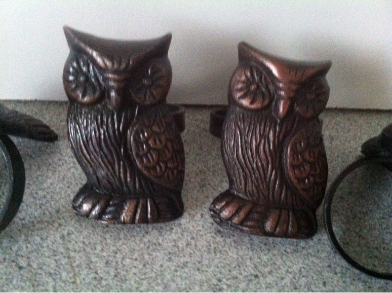 Metal OWL Napkin Rings  Holder  Vintage Napkin Rings