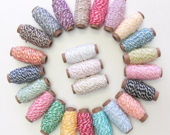5 yard bundles Choose 4 100/% Cotton Bakers Twine for a total of 20 yards
