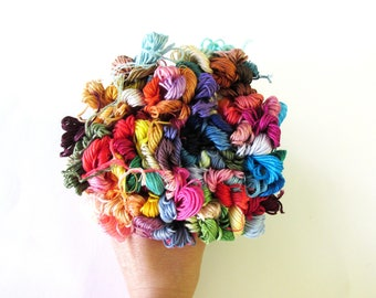 100 Skeins Pack  of Embroidery Floss -  Floss -  Craft Thread - 100 random colors