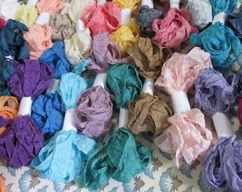 Crinkled Seam Binding - 48 yards - 144 feet - 24 Colors - Pack of 24 Colors - Seam Binding -  Rayon
