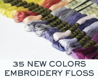 DMC Floss 35 new colors -  Made in France - You pick the colors - 35 colors available - Per Skein