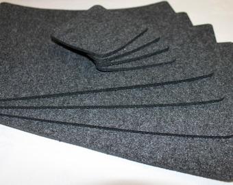 Placemats  Simple Shape Quadrat Rectangle Felt Table Mats Set of 6