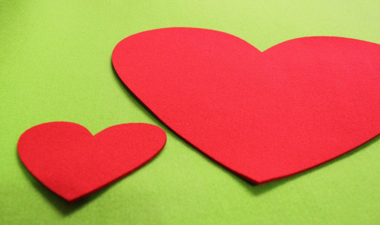 Eco Friendly Hearts Shape Felt Placemats Set of 3