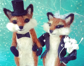 Animal Wedding Cake Topper