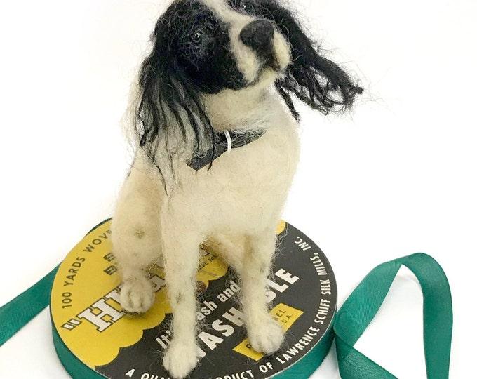 Featured listing image: Custom Felted Dog Sculpture/Replica Dog Portrait