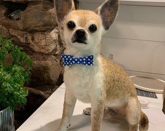 Life size small breed dog replica/sculpture