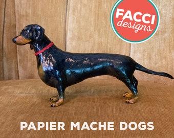 papier mache custom dog sculpture