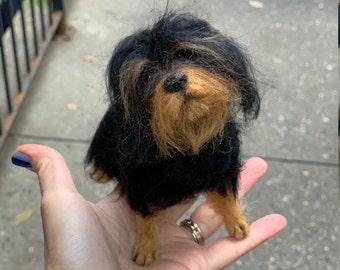 Small Custom Felted Dog Sculpture/Replica Dog Portrait