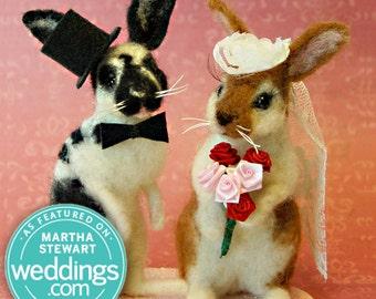 Bunny / Rabbit Custom Wedding Cake Topper