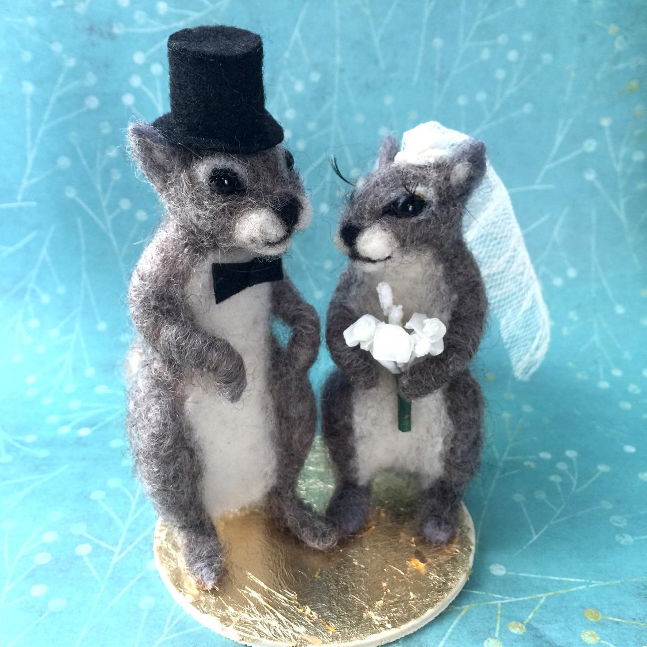 Squirrel Wedding Cake Topper
