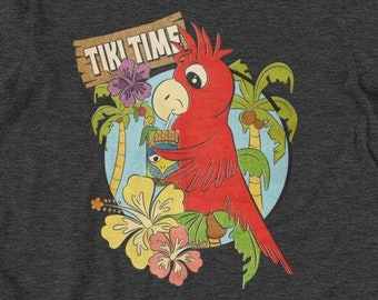 Tiki Time Parrot (Unisex Tee)