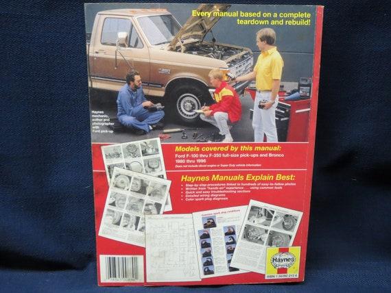 Haynes Repair Manual Ford Pick ups /& Bronco 1980-96
