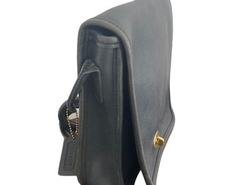 Vintage Coach Purse, Coach Black Mini Bag, Coach Compact Pouch, Made In USA 0528 301