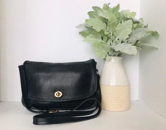 Vintage Coach City Handbag // Black Coach City Cro