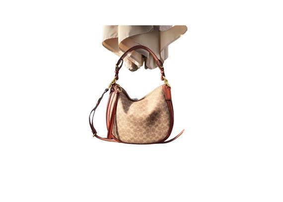 Coach Sutton Signature Canvas Hobo Bag, Coach Cros