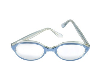 59bd8811185 Trans World Eyewear Vintage Eyeglasses (no lens) Blue Satin by L. Evrard  50-22