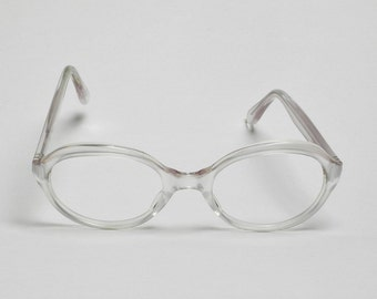 096de30a7c2 Trans World Eyewear Vintage Eyeglasses (frame only) White Satin by L. Evrard  52-22-137
