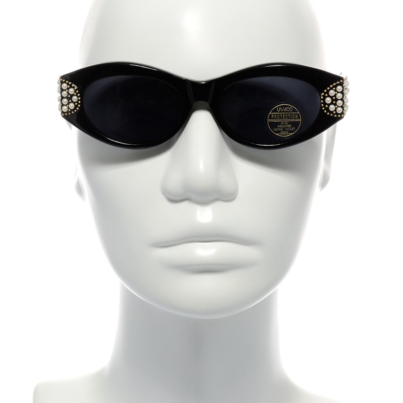 Cheryl Shuman Sunglasses Wendi with Pearls Black