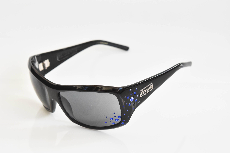 Gafas de sol Black Flys SNOW FLY con Blue Rhinestones Black