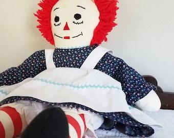 Vintage Raggedy Ann Rag Doll 1980s