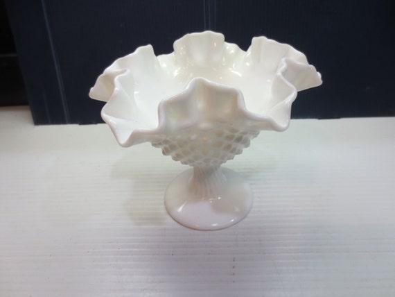 Fenton Candy Dish Fenton Vase Fenton Bowl Hobnail Vase Etsy