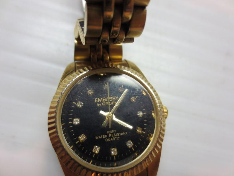 ad38be888a3e3 Embassy by Gruen Quartz Wrist Watch Japan Movement Water