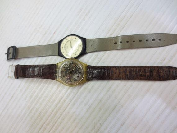 1994 Swiss Swatch Watch, Skeleton Watch, with bonu