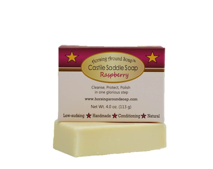 Raspberry Castile Saddle Soap