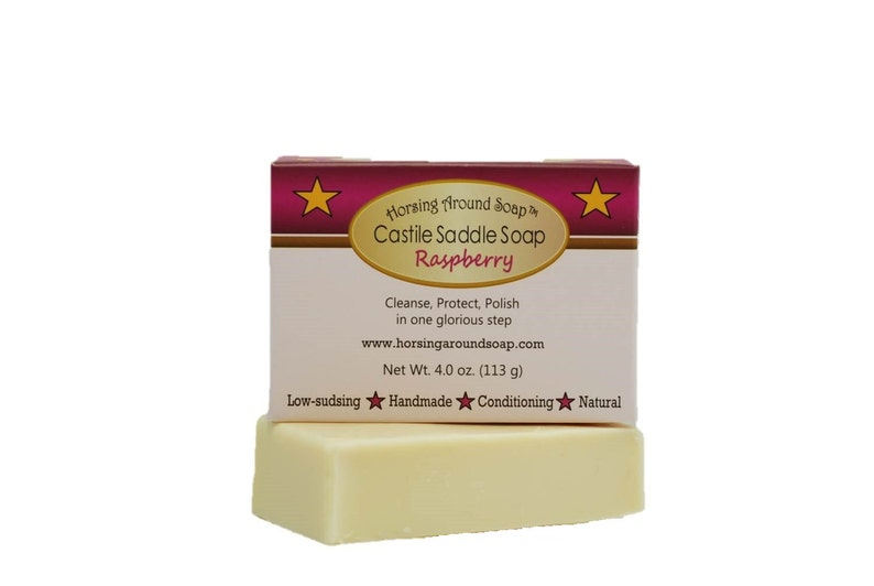 Raspberry Castile Saddle Soap image 0