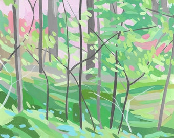 Magic Grove, abstract Forest, archival print, various sizes