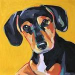 "Custom Dog Portrait, 10"" x 10"" oil on canvas"