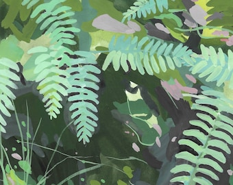 Fern Study I, abstract Forest, archival print, various sizes