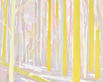 Dreamland Part I - Archival Print, modern landscape, nature, tree print