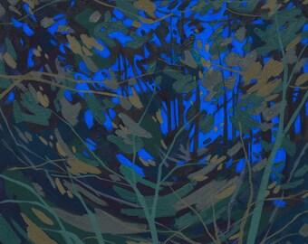 Nocturne III - Archival Print, modern landscape, nature, tree print