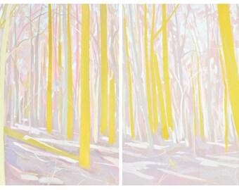 Dreamland Diptych Print Set - Archival Print, modern landscape, nature, tree print
