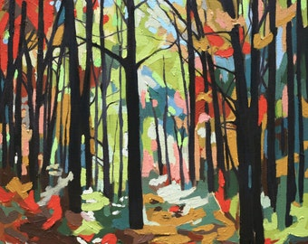 Abstract Forest, archival print, various sizes