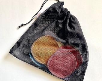 Black Mesh Laundry Bag   Delicate Wash Bag   Lingerie Laundry Bag   Bra Wash Bag   Reusable Facial Round Bag   Mesh Wash Bag